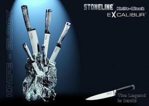 Stoneline sada nozu v bloku 6ks excalibur